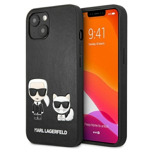 Karl Lagerfeld iPhone 13 mini Case Cover Hülle Karl / Choupette Schwarz
