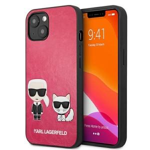 Karl Lagerfeld iPhone 13 mini Case Cover Hülle Karl / Choupette Fuchsia