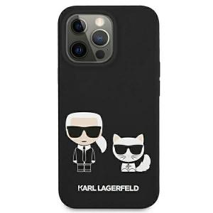 Karl Lagerfeld iPhone 13 mini Case Cover Hülle Silikon Karl / Choupette schwarz