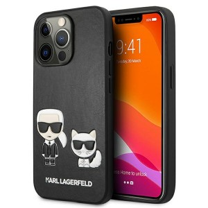 Karl Lagerfeld iPhone 13 Pro Max Case Hülle Cover Karl / Choupette Schwarz
