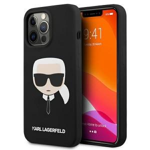 Karl Lagerfeld iPhone 13 Pro Max Hülle Case Cover Silikon Karl`s Head schwarz