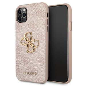 Guess iPhone 11 Pro Hülle Case Cover 4G Big Metal Logo Rose