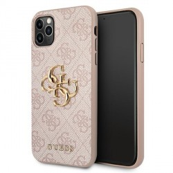 Guess iPhone 11 Pro Max Hülle Case Cover 4G Big Metal Logo Rose