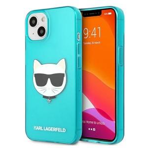 Karl Lagerfeld iPhone 13 mini Hülle Case Cover Glitter Choupette Fluo Blau