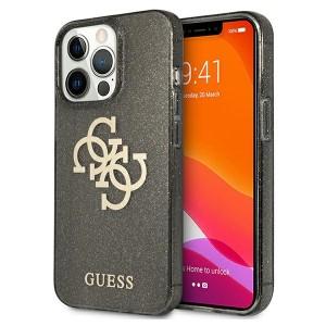 Guess iPhone 13 Pro Hülle Case Cover Glitter 4G Big Logo Schwarz