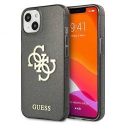 Guess iPhone 13 mini Hülle Case Cover Glitter 4G Big Logo Schwarz