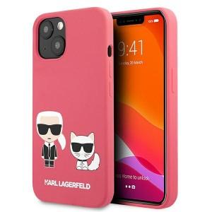 Karl Lagerfeld iPhone 13 Case Cover Hülle Silikon Karl / Choupette Fuchsia