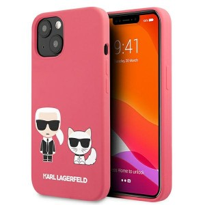 Karl Lagerfeld iPhone 13 mini Hülle Case Cover Pink Silikon Karl & Choupette
