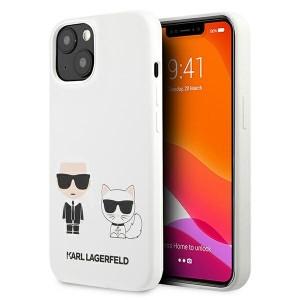 Karl Lagerfeld iPhone 13 mini Hülle Case Cover Weiß Silikon Karl & Choupette