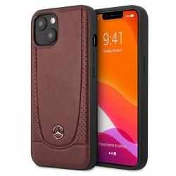 Mercedes iPhone 13 Hülle Case Cover Leder Urban Line Rot