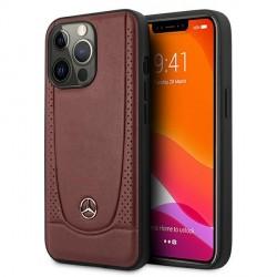 Mercedes iPhone 13 Pro Max Hülle Case Cover Leder Urban Line Rot