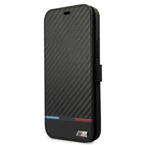 BMW iPhone 13 Handytasche M Power Carbon Book Cover Case