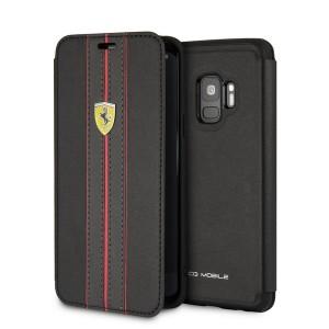 Ferrari Ledertasche FESURFLBKTS9BKR Samsung Galaxy S9 Schwarz