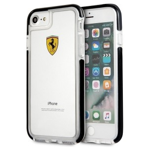 Ferrari Shockproof Hülle FEGLHCP7BK iPhone 7 / 8 / 9 / SE2 Transparent / Schwarz