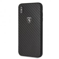 Ferrari Carbon Heritage Hülle / Hardcase FEHCAHCI65BK iPhone Xs Max Schwarz