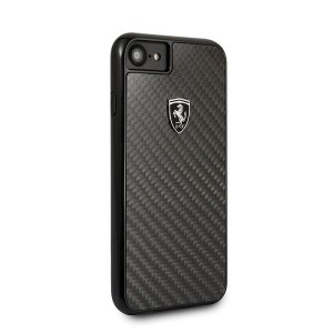 Ferrari Carbon Hülle FEHCAHCI8BK iPhone 8 / 7 Schwarz