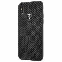 Ferrari Heritage Carbon Hülle FEHCAHCPXBK iPhone Xs / X Schwarz