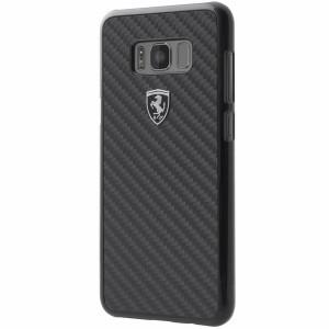 Ferrari Heritage Carbon Hülle FEHCAHCS8LBK Samsung Galaxy S8+ Plus Schwarz