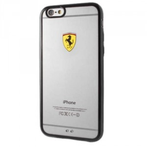 Ferrari Hülle FEHCP6BK iPhone 6 / 6S Transparent / Schwarz