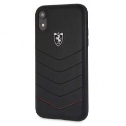 Ferrari Vertical Stripe Lederhülle FEHQUHCI61BK iPhone XR Schwarz