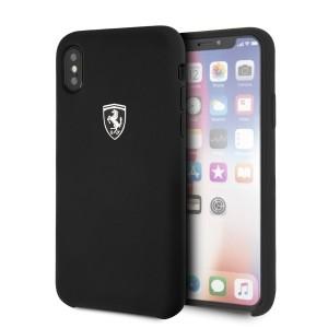 Ferrari Silikon Hülle FEOSIHCPXBK iPhone Xs / X Schwarz