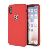 Ferrari Silikon Hülle FEOSIHCPXRE iPhone Xs / X Rot