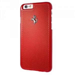 Ferrari Perforated Aluminium Hülle FEPEHCP6RE iPhone 6s / 6 Rot
