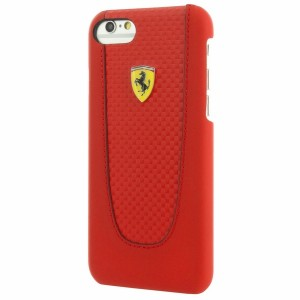 Ferrari PU Carbon Hülle Pit Stop iPhone 7 / 8 / 9 / SE 2 Rot FEPIHCP7RE