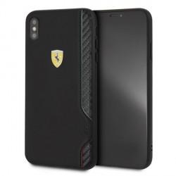 Ferrari On Track Carbon / PU Lederhülle FESITHCI65BK iPhone Xs Max Schwarz