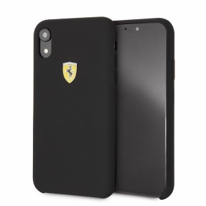 Ferrari Silikon Hülle FESSIHCI61BK iPhone XR Schwarz