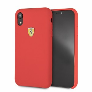 Ferrari Silikon Hülle FESSIHCI61RE iPhone XR Rot