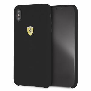 Ferrari Silikon Hülle FESSIHCI65BK iPhone Xs Max Schwarz