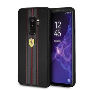 Ferrari Lederhülle FESURHCS9LBKR Samsung Galaxy S9+ Plus Schwarz