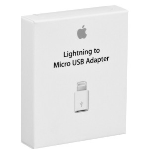 Original Apple Adapter MD820ZM/A Lightning zu Micro USB