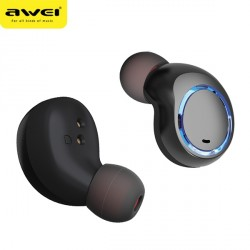 AWEI Bluetooth 5.0 T3 TWS Kopfhörer + Dockingstation schwarz