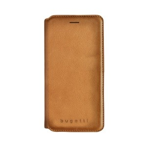 Bugatti Ledertasche / Book Cover Parigi iPhone Xs / X Cognac