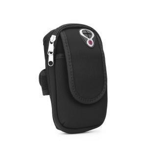 Armband Full Close Tasche für Schulter schwarz mit Tasche und Loch für Kopfhörer