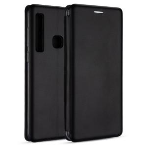 Premium Slim Magnetic Tasche Huawei Y7 2019 Aufstellfunktion + Kartenfach schwarz