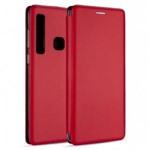 Premium Slim Magnetic Tasche Huawei Y7 2019 Aufstellfunktion + Kartenfach Rot