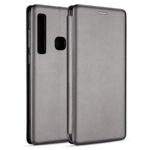 Premium Slim Magnetic Tasche Samsung S10 Plus Aufstellfunktion + Kartenfach grau