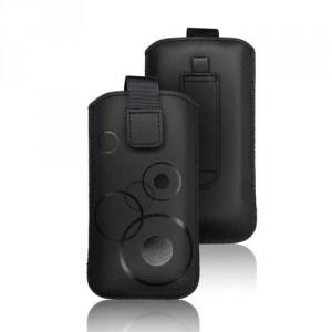 Vertikal Tasche Deko iPhone 5 / 5S / 5SE / 5C schwarz