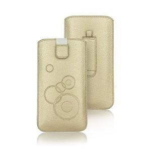 Vertikal Tasche Deko iPhone 5 / 5S / 5SE / 5C gold