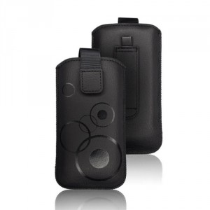 Vertikal Tasche Deko iPhone 7 Plus / 8 Plus / XS Max / 11 Pro Max Schwarz