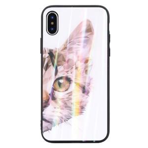 Glass Hülle / Case iPhone SE 2020 / iPhone 8 / 7 cat