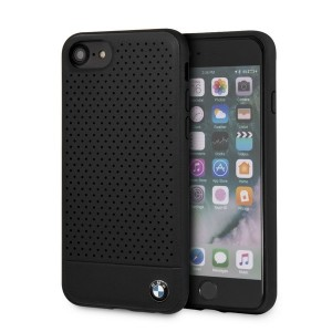 BMW Perforated Echtleder / Hülle BMHCI8PEBOBK iPhone 8 / 7 schwarz