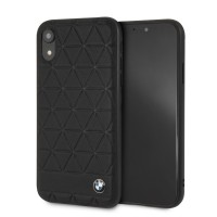 BMW Hexagon Lederhülle BMHCI61HEXBK iPhone XR Schwarz