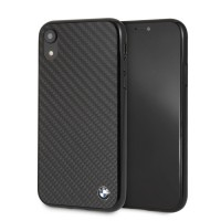 BMW Carbon Hülle / Cover BMHCI61MBC iPhone XR Schwarz