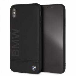 BMW Logo Imprint Signature Lederhülle BMHCI65LLSB iPhone Xs Max Schwarz