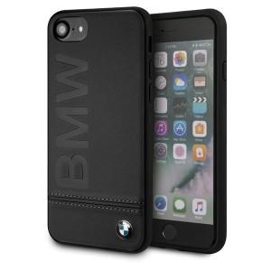 BMW iPhone SE 2020 / iPhone 8 / 7 Logo Imprint Signature Lederhülle BMHCI8LLSB Schwarz