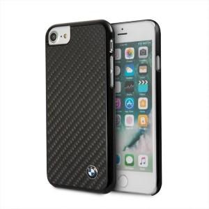 BMW iPhone SE 2020 / iPhone 8 / 7 Carbon Hülle / Cover Schwarz BMHCI8MBC